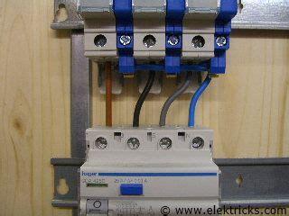 fi schalter einbauen anschliessen  elektrik