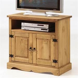 Meuble Tv Haut : meuble tv haut en bois ~ Teatrodelosmanantiales.com Idées de Décoration