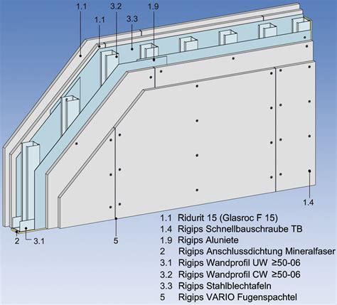 Aufbau Einer Trockenbauwand by Schlanke Brandw 228 Nde Ab 111 Mm Rigips Trockenbau F 90