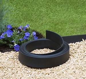 Bordure Plastique Jardin : bordure de jardin flexible couleur noir ~ Premium-room.com Idées de Décoration