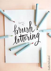hand lettering basics with watercolor markers consumer With lettering markers