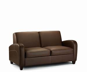 vivo faux leather pull out sofa bed chestnut uk delivery With faux leather pull out sofa bed