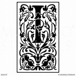 Monogram stencils modellor designs for Large monogram letter stencil