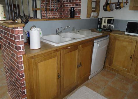 dimensions meubles cuisine meuble cuisine en bois massif gallery of by