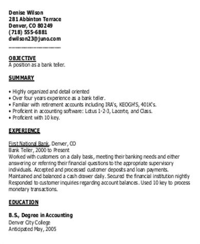 Things To Put On Resume For Bank Teller by Sle Bank Teller Cover Letter 7 Exles In Word Pdf