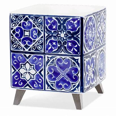 Scentsy Warmer Indigo Tile Discontinued Warmers Scent