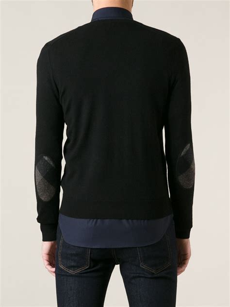 mens burberry sweater burberry brit patch sweater in black for lyst