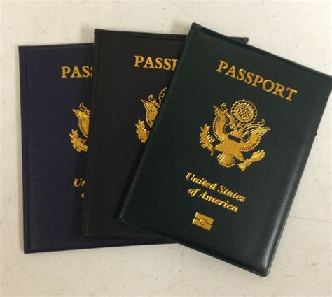 usa passport cover holder navy green  black travel
