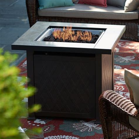 Inspect the burners for debris that could block the air flow. SONOMA Goods for Life® Outdoor Gas Fire Pit Coffee Table 3-piece Set