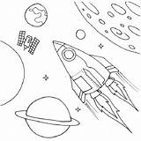 Coloring Spaceship Space Shuttle Drawing Illustration Fantasy Satellite Outer Pages Ship Easy Print Drawings Rocket Button Using sketch template