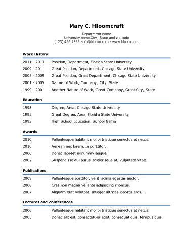 Easy Cv Template Free by Simple Underline Resume Template Resume Templates And