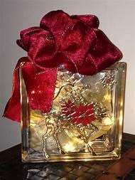 glass block christmas crafts - Christmas Glass Blocks