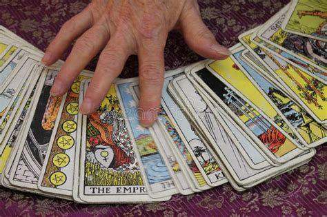 tarot cards arcanum stock photo image  religion