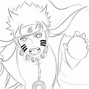 Uzumaki Naruto Kyuubi mode line art by Megalow on DeviantArt