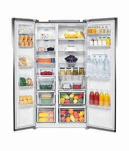 Samsung 580ltr Rs554nrua1j Side By Side Refrigerator Silver Price In India