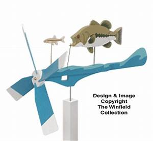 Wind Action Project Patterns - Bass Whirligig Wood Project