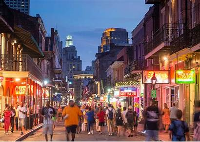 Orleans Bourbon Street Bars Louisiana Night Visit
