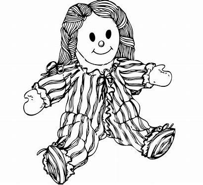 Coloring Creepy Doll Scary Sketch Clip Drawing