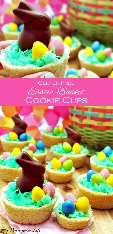 This simple easter shortbread recipe is topped with dried flowers, sprinkles, and sanding sugar, but feel free to raid your cupboard for whatever spices, nuts, or other fun toppings you may have in your pantry. Easter Basket Cookie Cups (Gluten-Free!) | Recipe (With ...