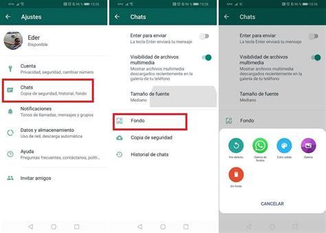 como cambiar el fondo de pantalla en los chats de whatsapp