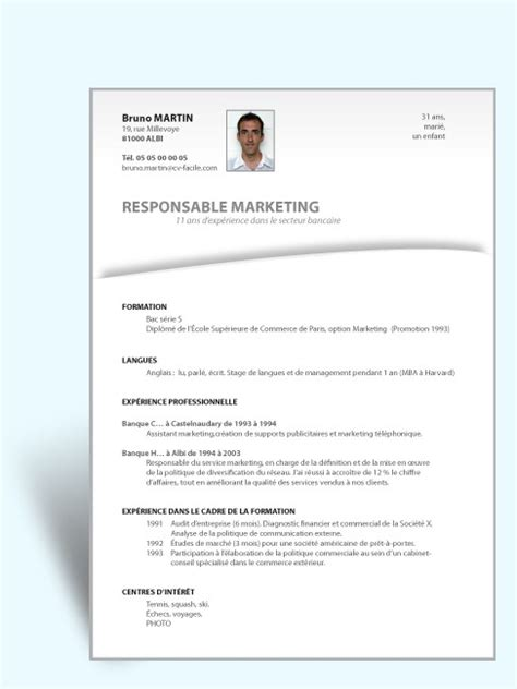 Cv Exemple Simple by Exemple De Lettre De Motivation Simple Lettre De