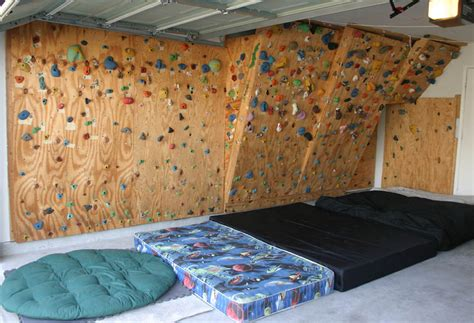 how to make a wall at home the hahn s homebuilt climbing wall in our garage