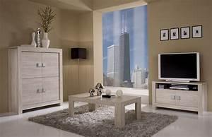 Table basse rectangulaire contemporaine chene blanchi clea for Idee deco cuisine avec meuble salle a manger chene blanchi