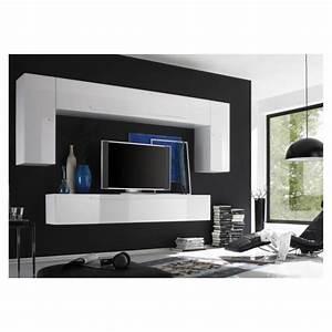 Meuble Sous Tv Suspendu : ensemble meuble tv mural laqu glossy b achat vente meuble tv ensemble meuble tv mural la ~ Teatrodelosmanantiales.com Idées de Décoration