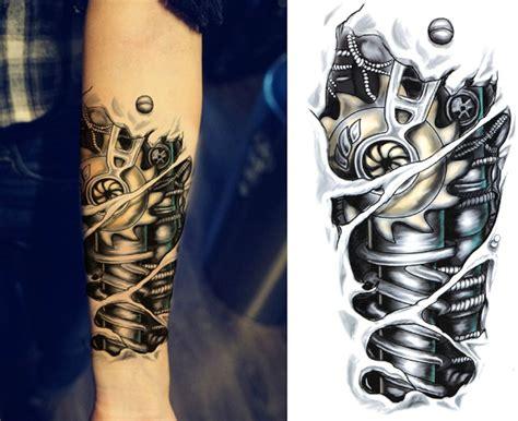 jaxx bionic robot temporary tattoo  hubbys style