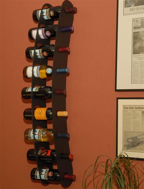 wall mounted wine racks funky steel