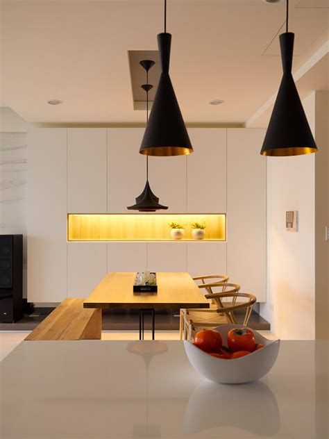 black pendant lights interior design ideas