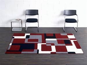 Teppich Rot Schwarz : designer velours teppich retro rot grau schwarz creme hanse home hamla ~ Eleganceandgraceweddings.com Haus und Dekorationen