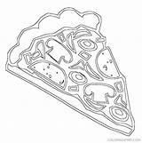 Coloring Pizza Ranch Slice Preschool Getcolorings Printable Dltk sketch template