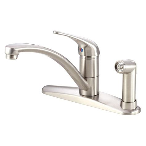 kitchen faucet with built in sprayer danze single handle high arc standard kitchen