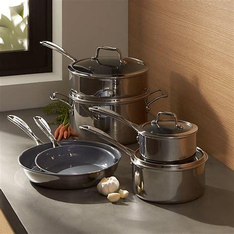 cookware zwilling henckels non stick piece ceramic crate barrel houzz crateandbarrel