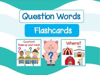 question words flashcards by roller kiddie teachers pay