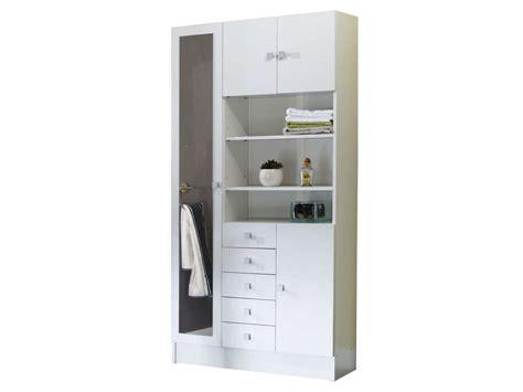 grande poubelle cuisine armoire de salle de bain 1 miroir 4 portes 5 tiroirs