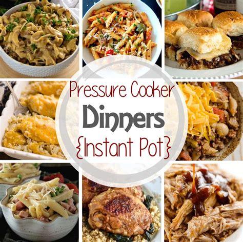 dinner pressure cooker recipes pot instant easy