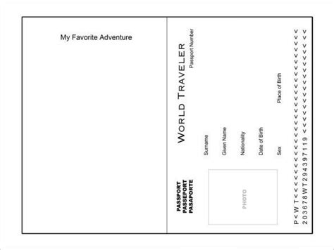 passport template  passport template passport