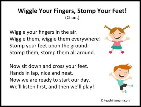 10 preschool transitions songs and chants to help your 497 | Slide02