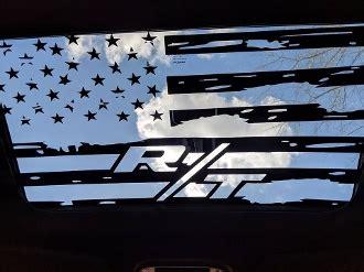 dodge challenger rt   distressed flag sunroof vinyl decal srt hellcat