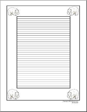 writing paper polar bear elementary abcteach