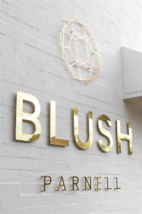 blush floral studio shop signage shop signs signage design