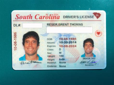 South Carolina Driver's Licenses  Don't Blink