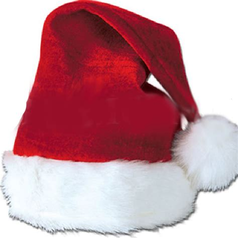 deluxe velvet santa hat plush trim adult balligifts usa