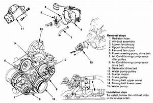 I Have A 1996 Isuzu Trooper  I Am Needing To Change The Water Pump  But The Diagram It Shows