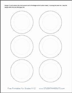 printable template for making 2 1 4 inch buttons student With design a button template free