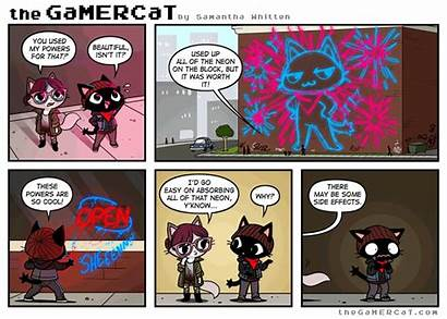 Gamercat Comics Gamer Cat Neon Comic Vibes