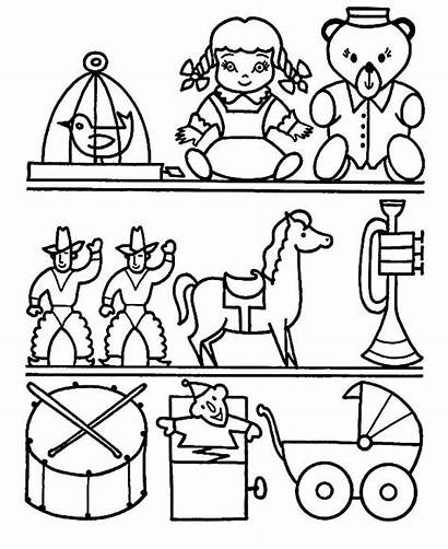 Coloring Toys Pages Toy Drawing Santa Tocolor