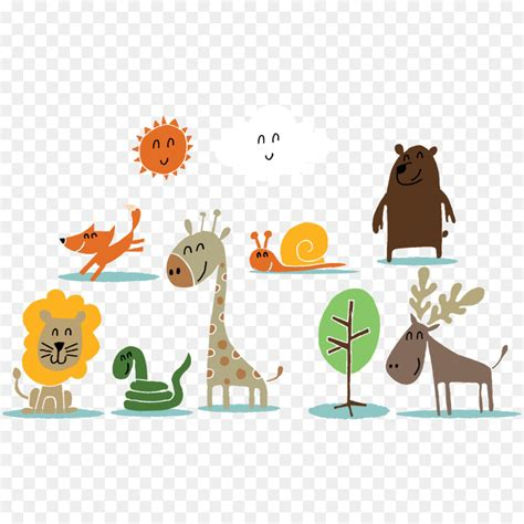 animal drawing  vector happy zoo png